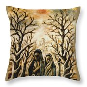 Women In Harmattan Throw Pillow
