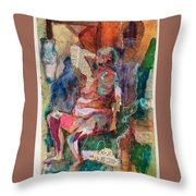 Women In Thought Throw Pillow