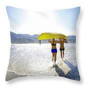 Women Kayakers Throw Pillow