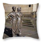 Women Of Steel Throw Pillow