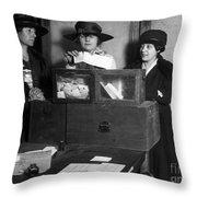 Women Voting, C1917 Throw Pillow
