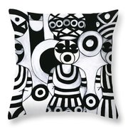 Women With Calabashes IIi Throw Pillow