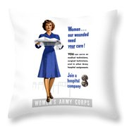 Women's Army Corps - Ww2 Throw Pillow