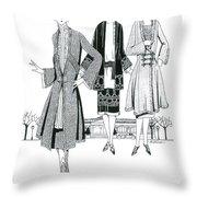 Womens Fashion, 1926 Throw Pillow