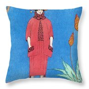 Womens Fashion, George Barbier, 1921 Throw Pillow