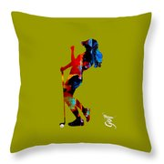 Womens Golf Collection Throw Pillow