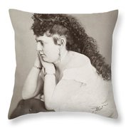 Womens Hairstyle Throw Pillow