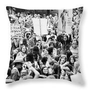 Womens Lib, 1971 Throw Pillow