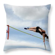 Womens Pole Vault Throw Pillow