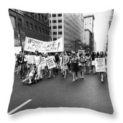Womens Rights, 1970 Throw Pillow