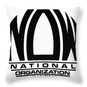 Womens Rights: Now Logo Throw Pillow