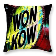 Won Kow, Wow 3 Throw Pillow by Marianne Dow