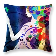 Wonder Throw Pillow by Angelina Tamez