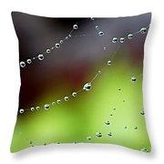 Wonder Web Droplets Throw Pillow