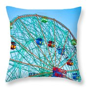 Wonder Wheel Amusement Park 1 Throw Pillow