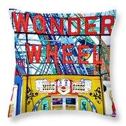 Wonder Wheel Amusement Park 10 Throw Pillow