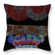 Wonderful And Spectacular Christmas Lighting Decoration In Madrid, Spain Throw Pillow