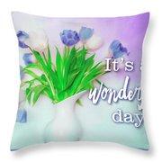 Wonderful Day Throw Pillow
