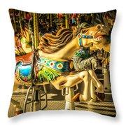 Wonderful Horse Ride Throw Pillow