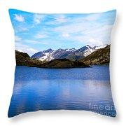 Wonderful Lake San Bernardino In Switzerland. Throw Pillow