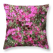 Wonderful Pink Azaleas Throw Pillow