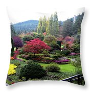 Wonderful Sunken Garden In The Butchart Gardens,victoria,canada 1. Throw Pillow
