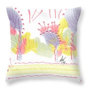 Wonderfully Carefree Throw Pillow