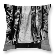 Wondering Soldier  Throw Pillow