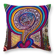 Wondering What's Next - V Throw Pillow
