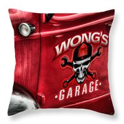 Wong's Garage Throw Pillow