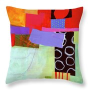 Wonky Grid #19 Throw Pillow