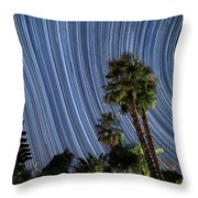 Wonky Star Trails Throw Pillow