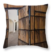 Wood And Iron Bi-fold Gate Throw Pillow