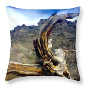 Wood And Lava Throw Pillow