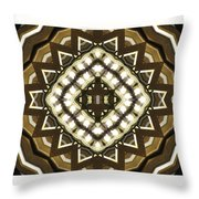 Wood And Light Shield Throw Pillow