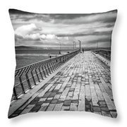 Wood And Pier Throw Pillow
