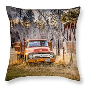 Wood And Rust Throw Pillow