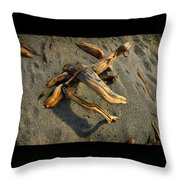 Wood And Sand Throw Pillow