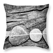 Wood And Stones - Vertical Throw Pillow