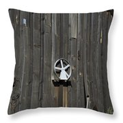 Wood And Wheel Throw Pillow
