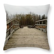 Wood Boardwalk At Valens Throw Pillow