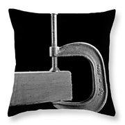 Wood Clamp Throw Pillow