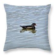 Wood Duck 2 Throw Pillow