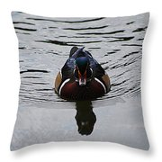 Wood Duck Male 20130924_268 Throw Pillow