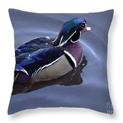 Wood Duck On The Delaware - 06 Throw Pillow