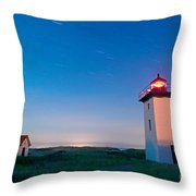 Wood End Lighthouse Provincetown Cape Cod Throw Pillow