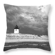 Wood End Lighthouse Provincetown Throw Pillow
