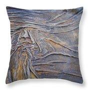 Wood Face  Throw Pillow