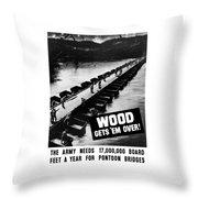 Wood Gets 'em Over Throw Pillow
