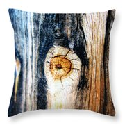 Wood In Macro #1 Throw Pillow
